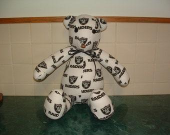 LA Raiders Football Bear
