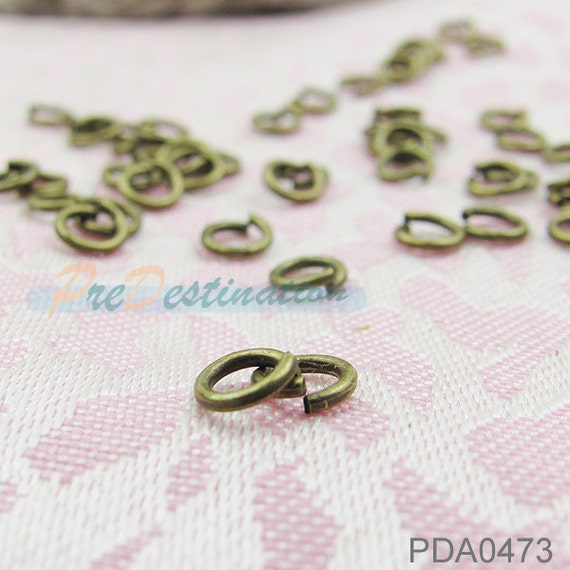 100pcs Antique Brass 5mm Jump Rings, Open Type Copper Plated Rings Link Accessories