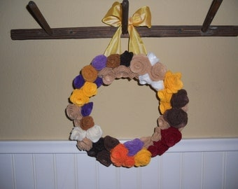 "9"" Felt Fall Wreath"