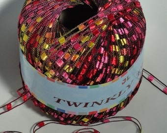 Twinkly Trail Ladder Trellis Yarn col 57 red Yellow free shipping
