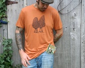 Morel Mushroom Men's Rust Bamboo Screen Printed T Shirt