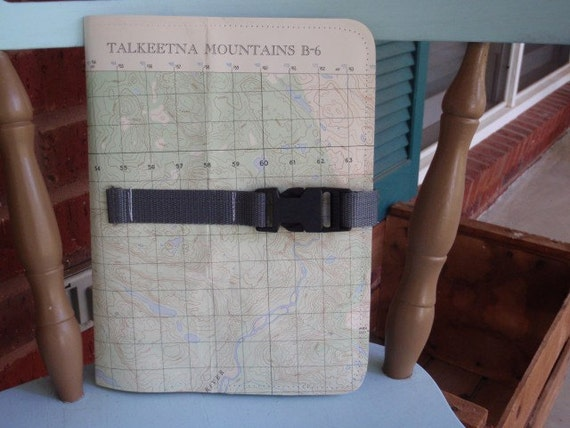 Talkeetna Mountains, Alaska Topo Map Repurposed Journal / Composition Book Cover with book