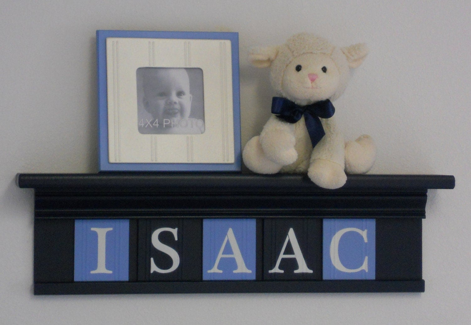 Navy Blue Wall Decor Nursery : Navy blue nursery wall decor room personalized for