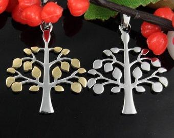 Family Tree Stainless Steel Pendant