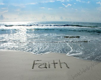 FAITH Sand Writing