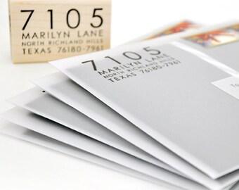 Custom Address Stamp - Personalized Stamper - Information Only Return Address Rubber Stamp - Contemporary - Modern - Wedding - DIY Printing