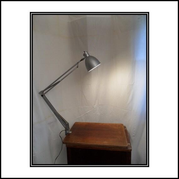Silver Swing Arm Lamp