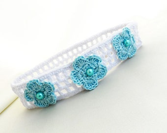 Crocheted baby headband, baby accessory, hair accessories, girl fashion, READY TO SHIP