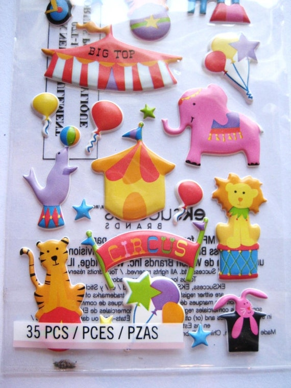 Circus dimensional stickers - 3D - Sticko - B114
