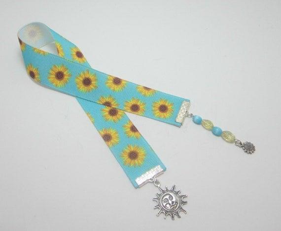 Sunflower Ribbon Bookmark