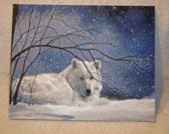 Winter Wolf Mosaic