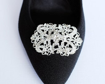 SALE Bridal Shoe Clips Crystal Rhinestone Shoe Clips Wedding Party (Set of 2) SC003LX