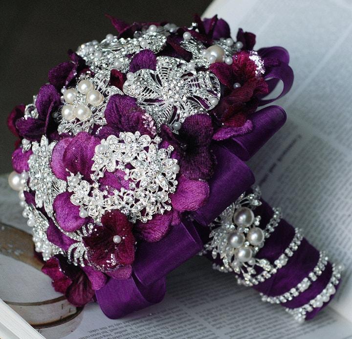 Wedding Bouquet Crystal Flowers: Wedding Brooch Bouquet Bridal Brooch Bouquet Pearl Crystal