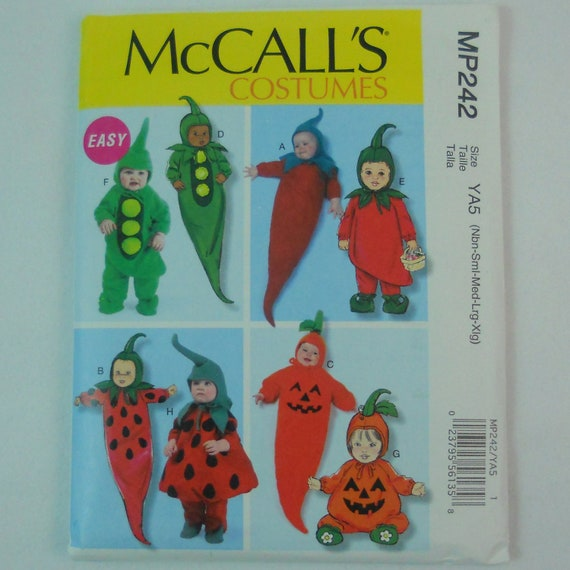 Mccalls Pattern Mp242 Baby Infant Halloween Costume By