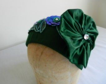 Green Silk Hat with Sequin and Frou Frou St. Patrick's Day