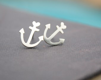 anchor earrings anchor studs anchor stud earrings love jewelry nautical earrings anchor posts