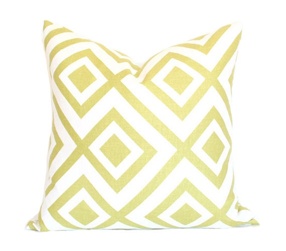 La Fiorentina David Hicks - Light Green & Ivory colorway - Designer Pillow Cover - Single-Sided 22x22
