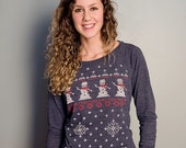 Snowman Ugly Christmas Sweater (light pullover)