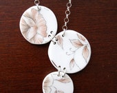 Floral Bubbles Necklace - Recycled China - Material and Movement