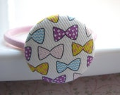 Button ponytail holder, Little bows
