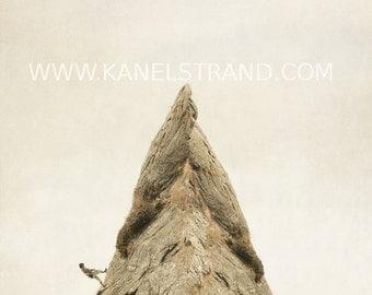 Surreal photography, whimsical fine art print, nursery wall decor, man climbing a steep rock 8x8