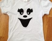 Girl Halloween Ghost Face T-Shirt or Infant Bodysuit