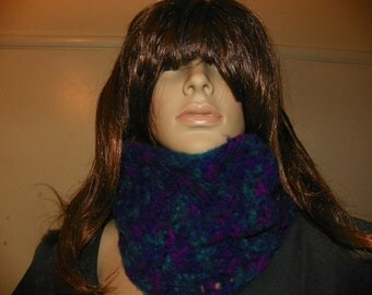 Beautiful Multi Color  Cowl Neck Warmer Hand Crochet Perfect for a Stunning Look