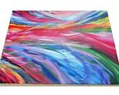 "Rainbow Cyclone original painting 8""x10"" - MADE TO ORDER"