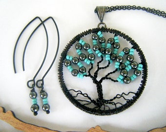 Tree of Life, Break of Dawn, Tree Necklace Set