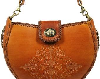 Tooled Leather Handbag - Santa Fe