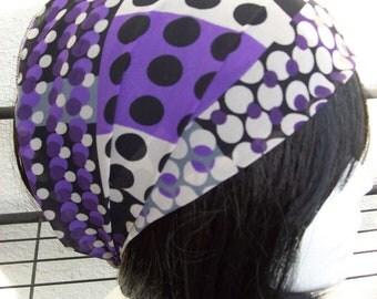 Lovely  ChiffonHeadband, Wide Headband, Headwrap, Gypsy Headband Hippie Headband