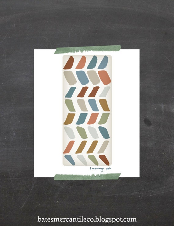 "Chevrons Art Wall Art, Chevron Wall Art, Chevron Illustration ""Boomerang"" PRINT, PRINT Geometric Poster"