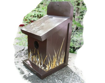 Birdhouse Cattails Bird House - Hand Crafted In The USA