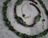 Wild Berry necklace, one of a kind beaded jewelry by Grey Girl Designs on Etsy - greygirldesigns