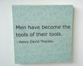 Plaque: Thoreau