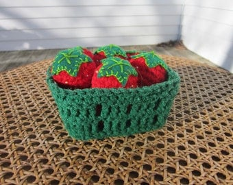 A Crochet Pint of Strawberries