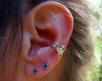 Sterling Silver Bat Ear Cuff Halloween Jewelry Bat Jewelry