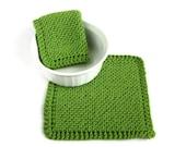 Knit Dishcloths Kiwi Apple Green Kitchen Cleaning