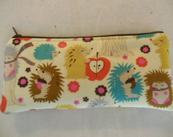 Hedgehogs Pencil Case/cosmetic pouch-Ready to ship