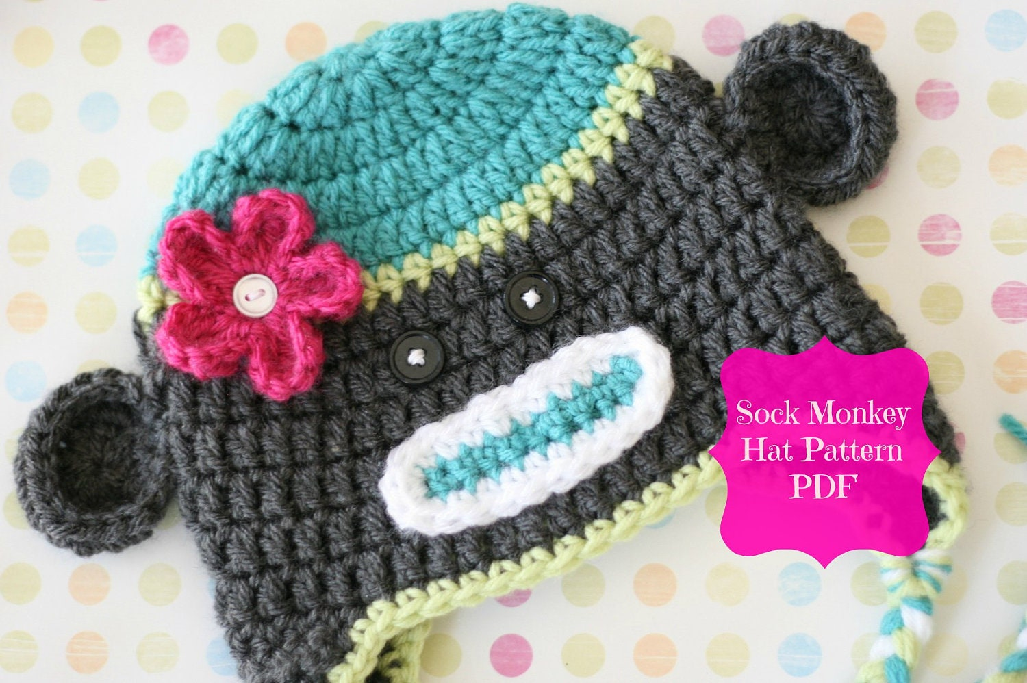Free Crochet Pattern Sock Monkey Hat For Baby : Sock Monkey Pattern Crochet Monkey Hat Pattern Crochet