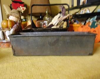 Vintage Baking Pan - Loaf Pan,  Metal Bread Pan, Antique Pan, Handmade Baking Pan