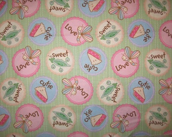 Having a Baby juvenile novelty print fabric 1 yard