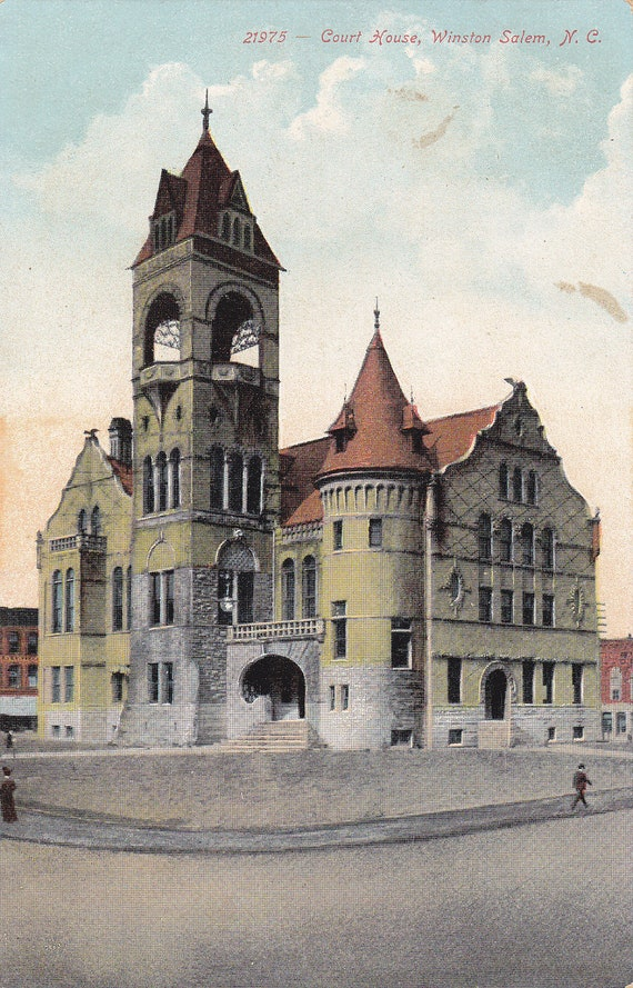 court house in winston salem north carolina 1900s vintage