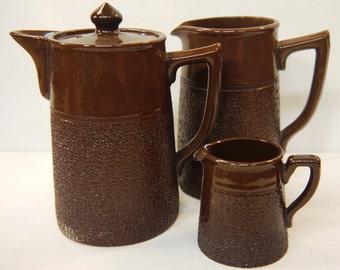Chocolate Pot Set Sadler, England 1930s Treacleware