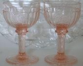 Vintage Toasting Cordial Glasses, Wedding, Anniversary