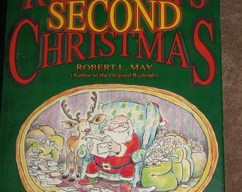 RUDOLPH'S Second Christmas book Reindeer Santa FIRST edition, stated May Emberley Dust jacket
