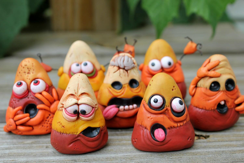 RESERVED FOR RONDA Mini Zombie Candy Corn Pendant Ornaments