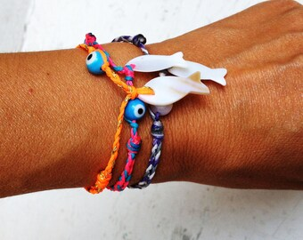 Greek Evil Eye Swim and Surf Bracelet