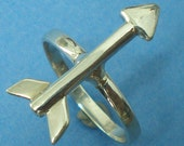 Arrow Ring - Archery Sterling Silver Arrow Arrowhead Jewelry