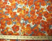 CLEARANCE SALE,  Orange Poppy Poly/Spandex Jersey Knit Fabric, 4 yards, Destash